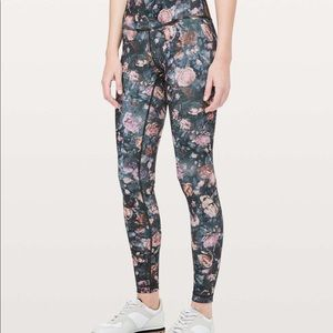 Lululemon Wunder Under High Rise Floral Tight